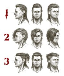 Dragon Age Origins- Cousland hairstyle exploration by sneaky-dudke