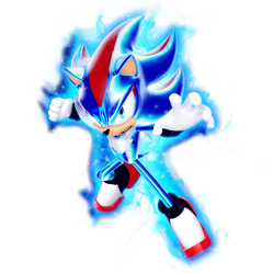 What if: Shadow as Super Saiyan Blue Evolution by Nibroc-Rock
