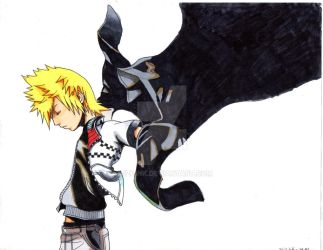 Roxas by MiZuInK