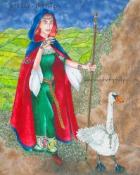Brigid Making Her Way by ElizabethPhillips