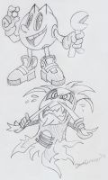 Pac-Man and the Ghostly Adventures Sketches by BlueIke