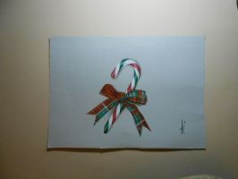 Drawing Christmas Candy cane .Riestra by DibujarteRiestra