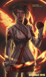 Fanart: Candela from Pokemon Go/Team Valor by avimHarZ