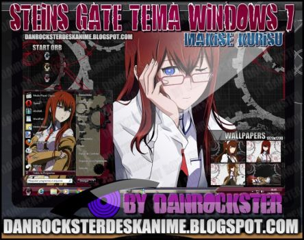 Makise Kurisu Theme Windows 7 by Danrockster