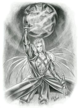 Sephiroth-meteor by fevereon