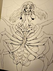 Inktober Day 28 - Arachne by SarahRichford