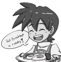 Sketch DaiLY 25 : Roll, Breakfast Is Ready! by Christina-LY