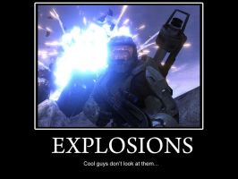Explosions Poster by SWHalo2