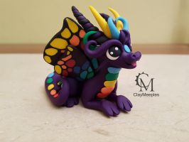 purple butterfly dragon sculpture by claymeeples