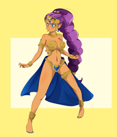 C: Shantae Tan Line Battle A by StaleMeat