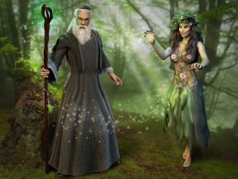 Merlin and Nimue by ravenscar45