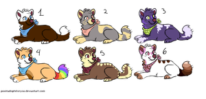 .::10 POINTS ADOPTABLES OPEN 2/6 by Cankiwolfy-adopts