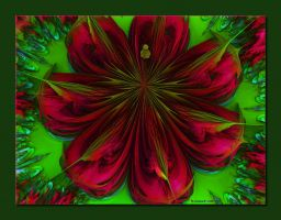20111109-Red-Blooms-on-Green-v3 by quasihedron