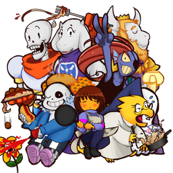 Undertale: Food, Flirting and Friends by ann13angel