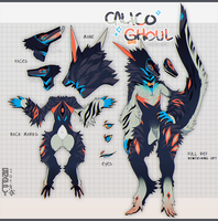 HB - Calico Ghoul [CLOSED] by BackwardsSnappy