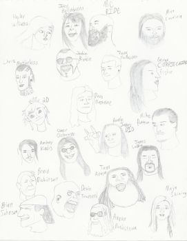 Faces of Frontmen and Frontwomen: Part 2 by PseudonoobDA