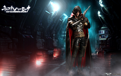 Space Pirate Captain Harlock - Hot Toys by Davian-Art