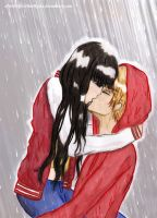 Kissing in the Rain by fatpear