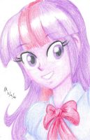 Colored Pencil Portrait - Twilight Sparkle by mayorlight