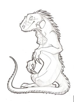 Iguana Sketch by KM-cowgirl