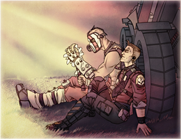 Borderlands 2: Krieg|Axton by maryallen138