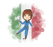 Ciao~ - Chibi Italy by FeriFairy