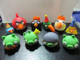 Fondant Angry Birds Collection Take 2 by Leara
