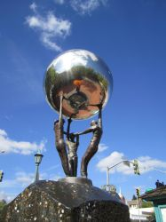 Silver Ball Sculpture 2 by chamberstock