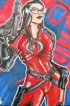 Baroness, the first lady of Cobra by Grymjack
