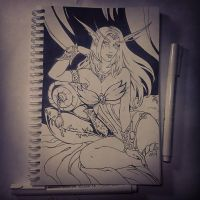 Instaart  - Queen Azshara (NSFW on Patreon) by Candra