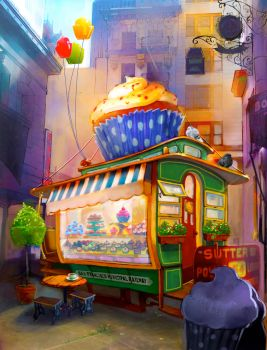 Cable Car Cupcake Shop by Awesome-Deviant-Name