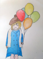 Girl with balloons by fserb