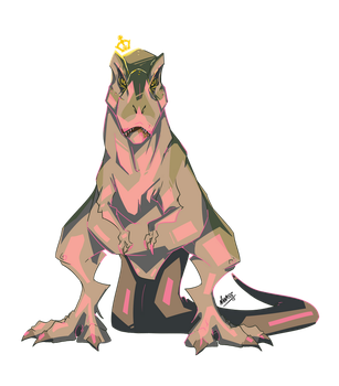 T-Rex Queen by Nanasschevelu