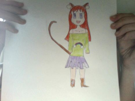 Red Hair Cat- Human by Nekagirl
