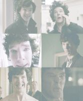 funny faces of sherlock by OvOsmile