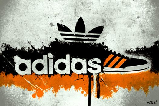 Adidas Desktop Wallpaper - Orange and Black by kuzco890