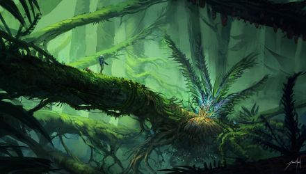 Alien Jungle by JJcanvas