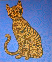 psychadelic cat by Evilpainter