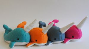 Colorful Narwhals by radtastical