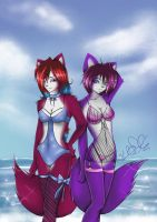 Kellalizard and Kiri Swimsuits by Kellalizard