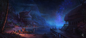 Moonlight Departure by Chris-Karbach