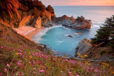 McWay Falls at Sunset by enunez
