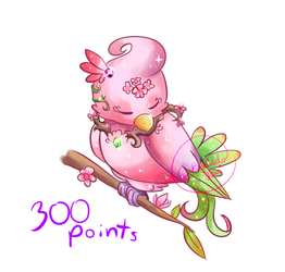 Adoptable: Magic Baby Parrot Sakura (OPEN) by Alexxxa4