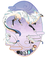 White Dragon//Auction//CLOSED by Belliko-art