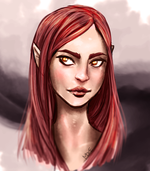 Daily Draw: Elfen girl doodle by MarianneEie