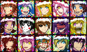 FNAF 2 Christmas Icons by Wolf-con-f