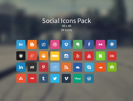 Soft Social Icons Pack v1 by ElvinasNET