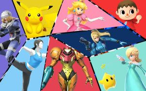 Super Smash Bros. Wallpaper 3 by Defiance-Of-Fate-FF