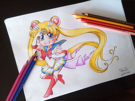 Sailor Moon Chibi by RikaChan3