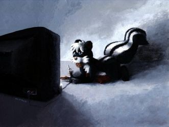 A Skunk and His Games by masonmouse